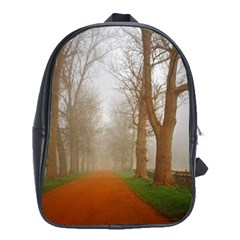 Foggy Morning, Oxford Large School Backpack by artposters