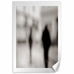 People Fading Away 20  X 30  Unframed Canvas Print