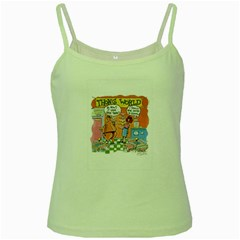 Thong World Green Spaghetti Top by mikestoons