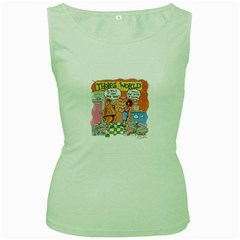 Thong World Green Womens  T Shirt by mikestoons