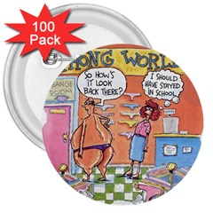 Thong World 100 Pack Large Button (round) by mikestoons