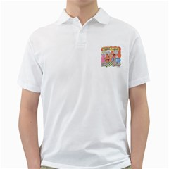 Thong World White Mens  Polo Shirt by mikestoons