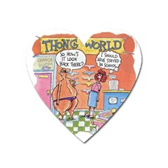 Thong World Large Sticker Magnet (heart) by mikestoons