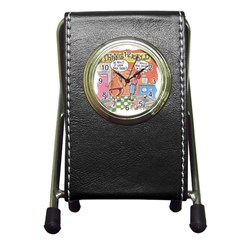 Thong World Stationery Holder Clock by mikestoons