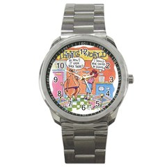 Thong World Stainless Steel Sports Watch (round) by mikestoons