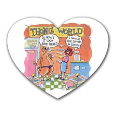 Thong World Mouse Pad (heart) by mikestoons