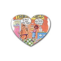 Thong World Rubber Drinks Coaster (heart) by mikestoons