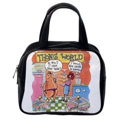 Thong World Single Sided Satchel Handbag by mikestoons