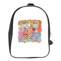 Thong World School Bag (xl) by mikestoons