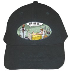 The Good News Is     Black Baseball Cap by mikestoons