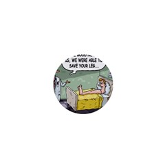 The Good News Is     Mini Magnet (round) by mikestoons