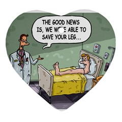 The Good News Is     Ceramic Ornament (heart) by mikestoons