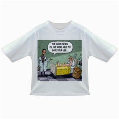 The Good News Is     Baby T Shirt by mikestoons