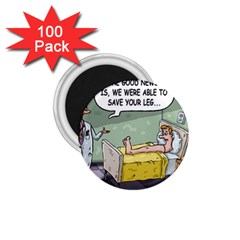 The Good News Is     100 Pack Small Magnet (round) by mikestoons