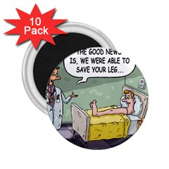 The Good News Is     10 Pack Regular Magnet (round) by mikestoons