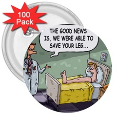 The Good News Is     100 Pack Large Button (round) by mikestoons