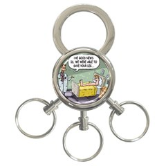 The Good News Is     3 Ring Key Chain by mikestoons