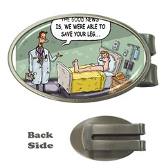 The Good News Is     Money Clip (oval) by mikestoons