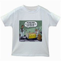The Good News Is     White Kids'' T Shirt