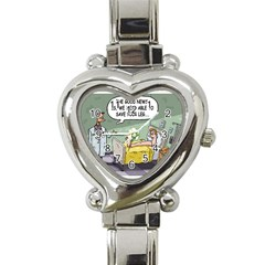 The Good News Is     Classic Elegant Ladies Watch (heart) by mikestoons