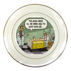 The Good News Is     Porcelain Display Plate by mikestoons