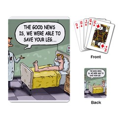 The Good News Is     Standard Playing Cards by mikestoons