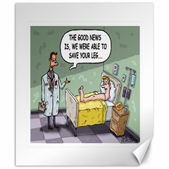 The Good News Is     20  X 24  Unframed Canvas Print by mikestoons