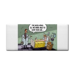 The Good News Is     Hand Towel by mikestoons