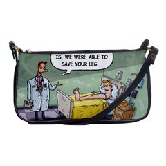 The Good News Is     Evening Bag by mikestoons