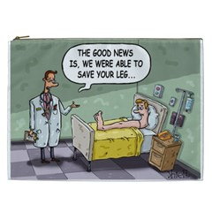 The Good News Is     Cosmetic Bag (xxl) by mikestoons
