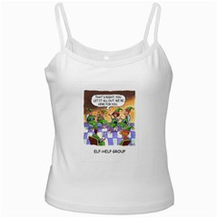 Elf Help Group White Spaghetti Top by mikestoons