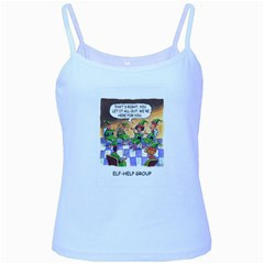 Elf Help Group Baby Blue Spaghetti Top by mikestoons