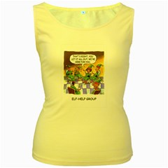 Elf Help Group Yellow Womens  Tank Top by mikestoons
