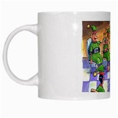Elf Help Group White Coffee Mug by mikestoons
