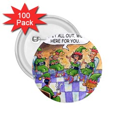 Elf Help Group 100 Pack Regular Button (round) by mikestoons