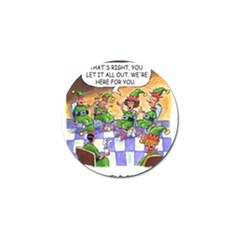 Elf Help Group 10 Pack Golf Ball Marker by mikestoons