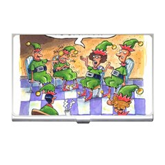 Elf Help Group Business Card Holder by mikestoons