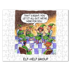Elf Help Group Jigsaw Puzzle (rectangle) by mikestoons