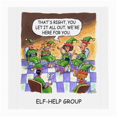 Elf Help Group Single Sided Large Glasses Cleaning Cloth by mikestoons