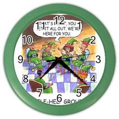 Elf Help Group Colored Wall Clock