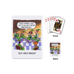 Elf Help Group Playing Cards (mini) by mikestoons