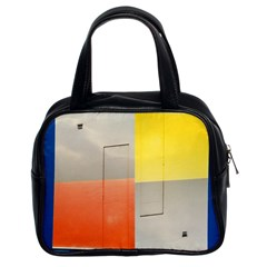 Geometry Twin Sided Satchel Handbag by artposters