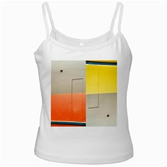 Geometry White Spaghetti Top by artposters