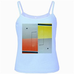 Geometry Baby Blue Spaghetti Top by artposters