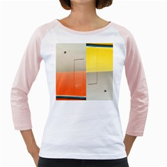 Geometry White Long Sleeve Raglan Womens  T Shirt by artposters