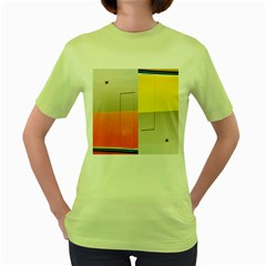 Geometry Green Womens  T Shirt by artposters