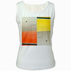 Geometry White Womens  Tank Top by artposters