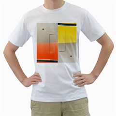 Geometry White Mens  T Shirt by artposters