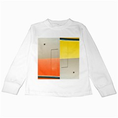 Geometry White Long Sleeve Kids'' T Shirt by artposters