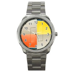 Geometry Stainless Steel Sports Watch (round)